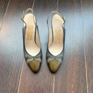 Salvatore Ferragamo Slingback Heels, Size 5.5